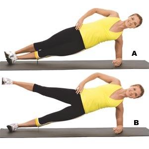side plank with leg lift – KatSized