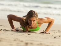 push ups on beach