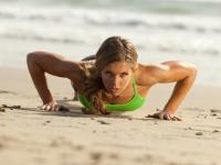push ups on beach