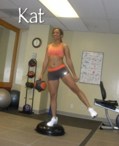 Kat on Bosu Ball