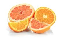 grapefruit and orange