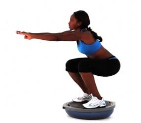 bosu ball squat