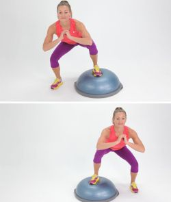 BOSU-Jumping-Side-Squats